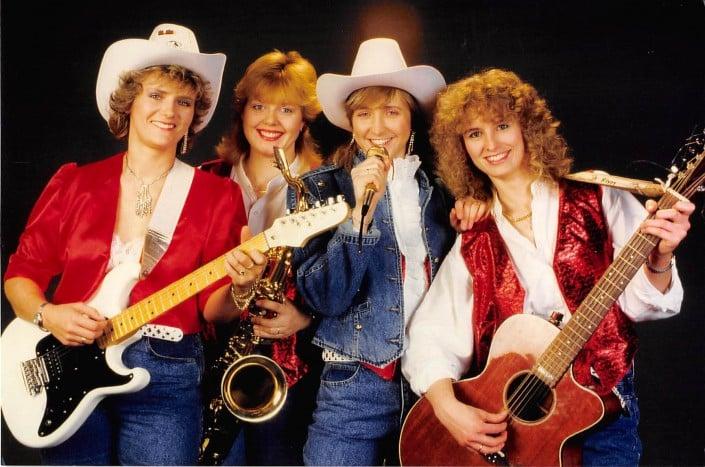 Queens of Heart 1989 - Foto mit Cowboyhut