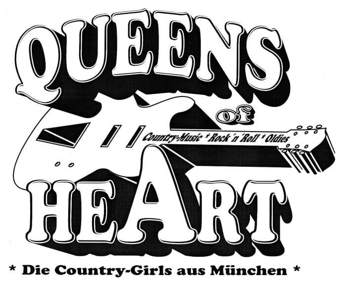 Queens of Heart 1989 Logo schwarz/weiß