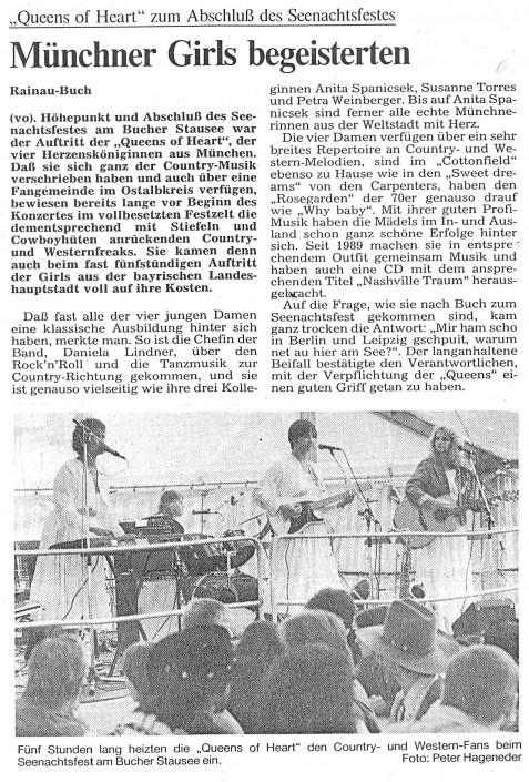Queens of Heart 1991 - Bucher Stausee, Seenachtfest