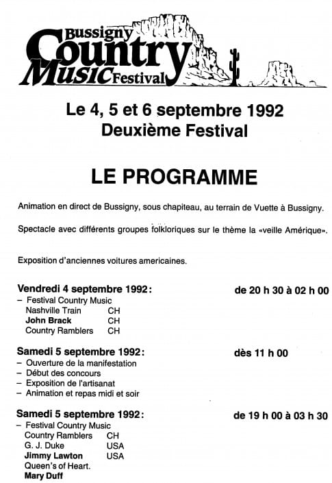 Queens of Heart 1992 - Bussigny Music Festival Programm