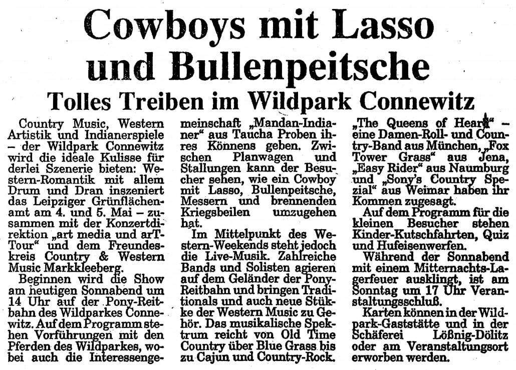 Queens of Heart 1992 im Wildpark Connewitz