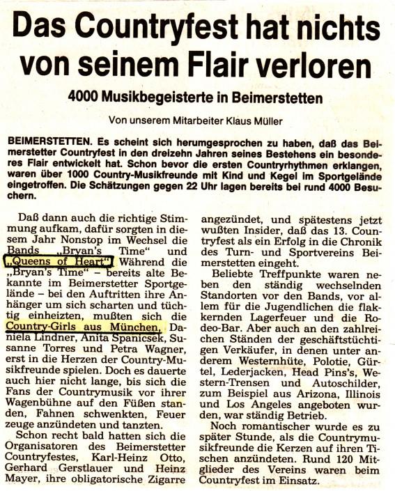 Queens of Heart 1993 in Beimerstetten