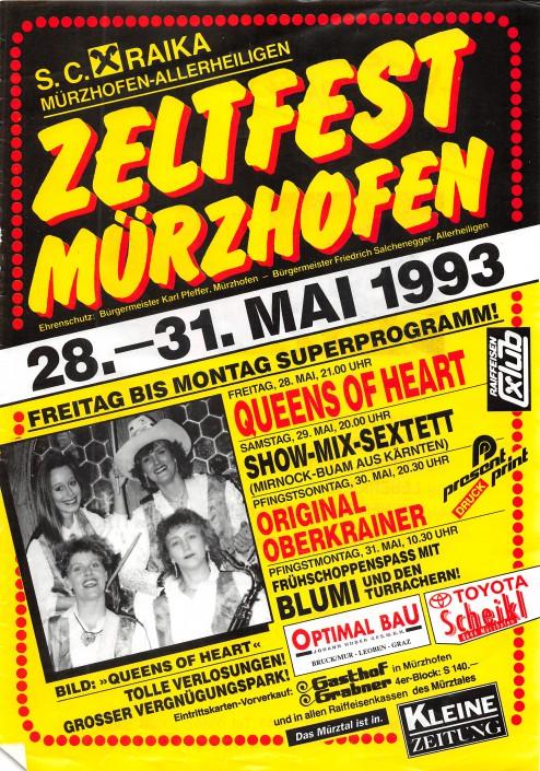 1993 Mürzhofen Plakat - Queens of Heart