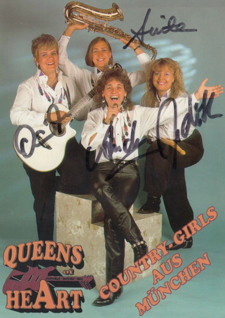 Queens of Heart 1995 - Autogrammkarte