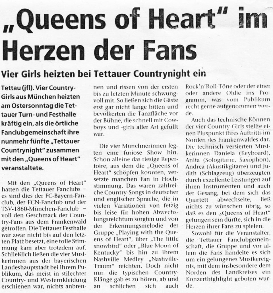 1996 - Tettau - Queens of Heart - Countrynight