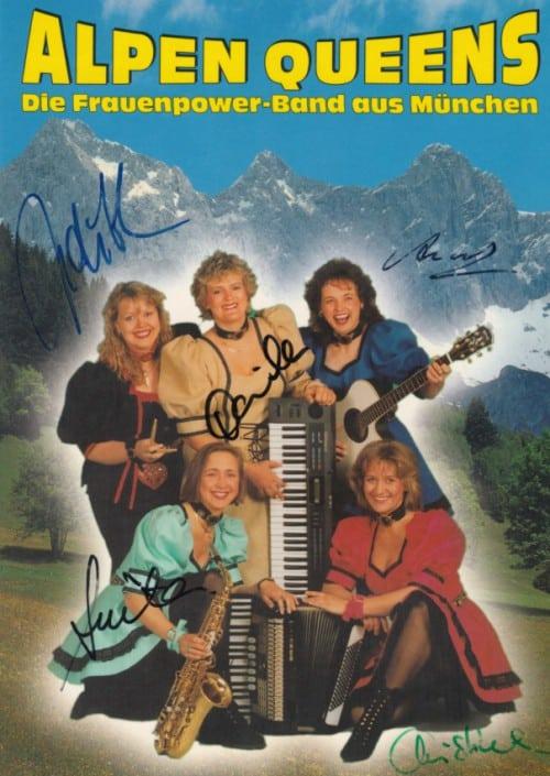 1997 Autogrammkarte Alpen Queens