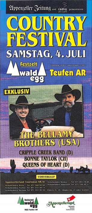 1997 - Teufen - Queens of Heart, Bonnie Taylor, Bellamy Brothers